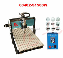 High quality, CNC 6040Z-S1500W engraving machine with 4000mm/min maximum operating speed engraving machine