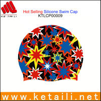 High Elastic Silicone Swim Cap with Full Color Printings