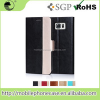 2015 Fashion Design Magnet PU Leather Mobile Phone Case For Samsung Note 5 Edge