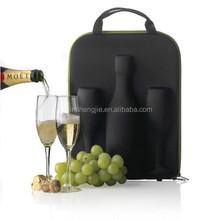 2015 custom designed leather wine bottle carrier case