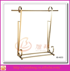 XB-A033 metal clothes display rack fashion boutique shop fittings system