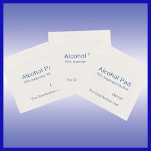 medical use alcohol prep pad