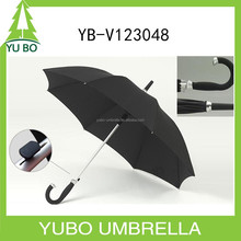 High quality hot selling aluminum straight umbrella with rubber handle