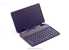 Silicon MID keyboard tablet case in black with Mirco&Mini cable customized for 7 inch Android tablet