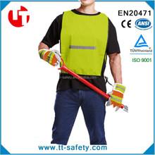 CE EN20471 high vis yellow&orange mesh polyester vest -safety