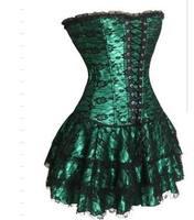 sexy green corset dress