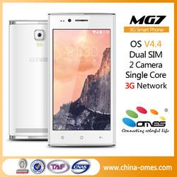 Alibaba OEM 4.5'' 3G WCDMA 2 Camera Bar Design Android Smart Phone City Call Android Phone