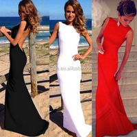 Ladies high Fashion Elegant Sexy Women Backless Prom Formal Sleeveless Dress Maxi Bodycon Sexy Long women Evening Party Dresses