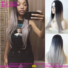 2016 New arrival silver grey human hair lace wigs wholesale cheap human hair grey lace front wig popular grey human hair wigs