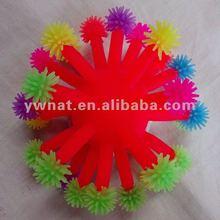 Colourful plastic aquarium artfical corals