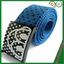 Made in China Girls stripe printed belt for sale