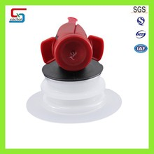 Supply BIB Bag In Box Plastic Valves, Red Butterfly Valve ,Wine Bag Valve