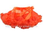 Hot sale ruffles skirt colorful girls pettiskirts halloween costume in stock