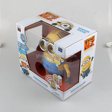 Box-packed Despicable Me movie character plastic minions talking toys producer