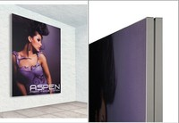 Wall mounted poster frame /frameless poster frames/aluminum fabric frame 2014 new products