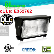 UL DLC listed led outside wall lights available in US warehouse with 6 years warranty