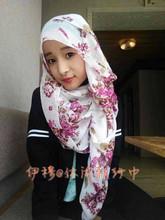S454 Lovely design silk-cotton long muslim scarf