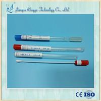 Medical sterile plastic bambootransport swab stick for specimen collection