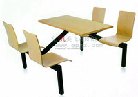 Plywood Wooden Dining Table with 4 Chair Sets