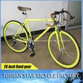 Bicicleta engranaje fábrica 700C colorida de alta calidad en bicicleta de artes fijos fijos de China