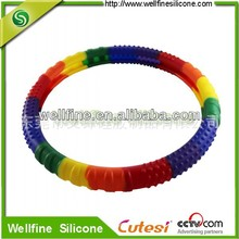 Mixing color silicone steering wheel case for car