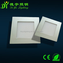 new style ultra thin mini square silver color 6w led panel light for hotel with CE& ROHS 3 years warranty