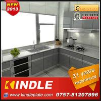 intergrate aluminium kitchen cupboard furniture set with high quality