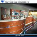 Superior calidad de muebles de la barra de mármol artificial& madera barra de bar