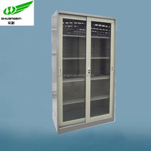 Glass door metal Ikea office furniture indian simple cupboard design/Knock down steel iron godrej cupboard cabinet