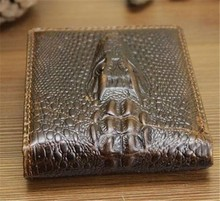 Boshiho crocodile clips wallet leather men