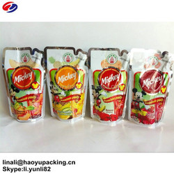 Wholesale different volume standing plastic fruit juice packaging