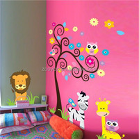zooyoo5091 PVC Removable animal decoration removable wall stickers design home decorating wall art decoration material for kids