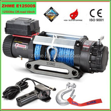 12500lbs electric wheel zhme power winch with synthetic rope