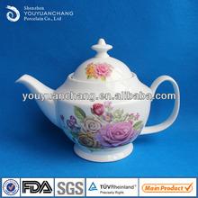 1400cc tetera de porcelana/cerámica decorativa, tetera de té o de café