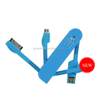 Swiss Army Knife 4 in1 micro USB Charger Cable for iphone samsung huawei