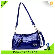 Fashion model show bright color small rectangle croco handbag