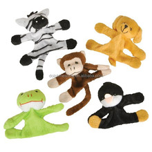 Different new design plush animal fridge magnet toy fashion cheap stuffed wild animal plush fridge magnet