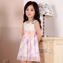C65543A Fashion summer Dress princess Sundress For 3-15Years Old Girls Dresses