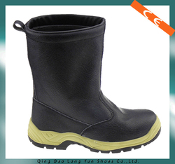 high-cut split leather cheap security boots