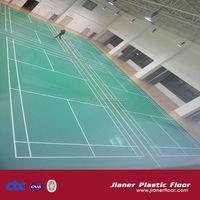 Outdoor Sports PVC synthetic badminton court flooring