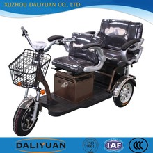electric tricycle motor electric tricycle standing with passenger seat