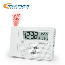 Digital AM/FM radio with alarm projection clock