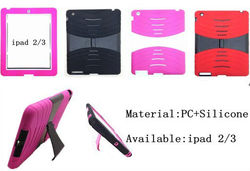 Mobile phone kickstand holster case for ipad 3