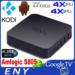 Hot selling Android 4.4 TV BOX GBOX Midnight MX2 MXQ Kodi TV BOX Quad Core MXQ Android Smart TV BOX