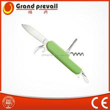 Niños multifuncionales de plástico de bolsillo cuchillos