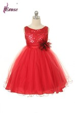 Ball Gown Red Sleeveless Ribbons Tulle Flower Girl Dress