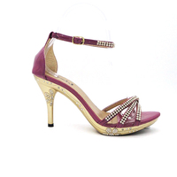 jeweled large size high heels
