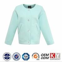 Huzhou KAIYI neoprene fabric lignt green women jacket in new model