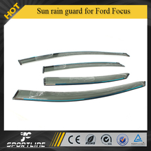 Electroplat Car Window Visor Vent Shade/injection moulding sun rain guard fit for 07-11 Ford Focu s 2