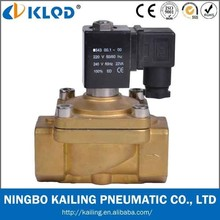 2/2 way Direct acting brass material 12V solenoid water valve, PU220-08